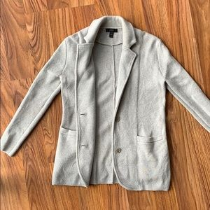 Jcrew sweater blazer gray wool